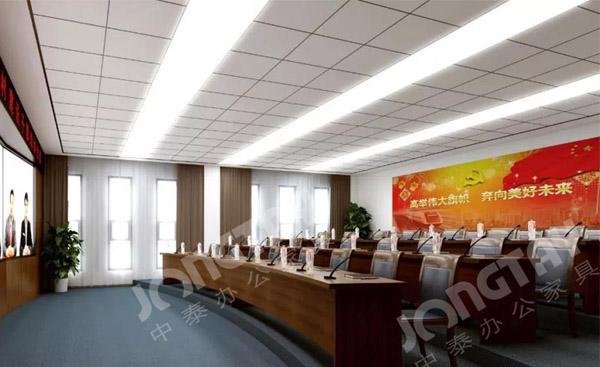 中泰办公家具为四川行政培训学院定制办公家具方案-成都办公家具厂家